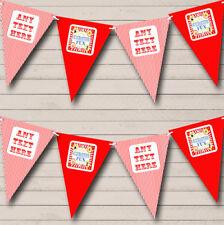 Motivo a righe bianco rosso Circo Compleanno Bambini Festa Di Compleanno Bandierine Banner