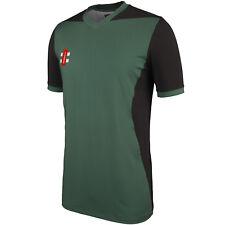 Slazenger Aero Cricket Shirt Youngster Boys Short Sleeve T Tee Top UPF Button