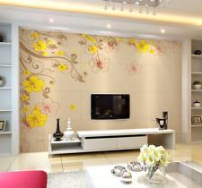 3D fiori gialli 54 Parete Murale Carta da parati immagine sfondo muro stampa