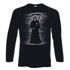 Grim Reaper de manga larga T-Shirt-Esqueleto Calavera Halloween goth gothic