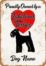 Metal Sign - Custom Dog Name - Lakeland Terrier - Vintage Look