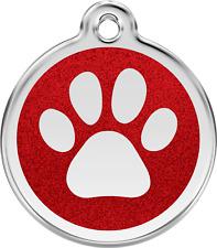 médaille gravée chien chat red dingo empreinte à paillettes 7 couleurs 3 tailles