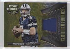 2014 Panini Totally Certified Fabrics Gold Prime #CF-TO Tony Romo Dallas Cowboys