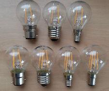 LED Round Clear Filament Light Bulb 2w/4w BC B22 ES E27 SES E14 SBC Bulbs Cheap