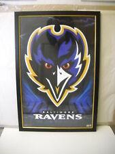 Framed and Under Uv Glass Ravens Nfl Football helmet poster 25 pounds