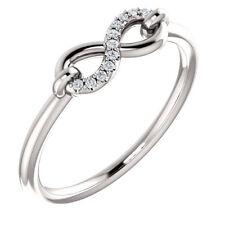 Diamond Infinity-Inspired Ring In Platinum (1/10 ct. tw.)