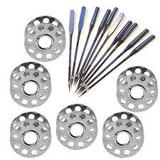 Universal size metal bobbin spools shuttles sewing machine needles one side flat