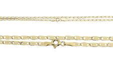 Goldkette 585 / 14 Karat flache Halskette Collier 50 / 55 cm Kette Gelbgold