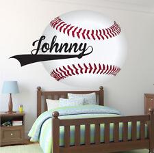 Custom Name Baseball Wall Decal Kid's Room Sports Decal Baseball Art, s92