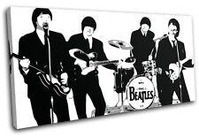 The Beatles Iconic Celebrities SINGLE CANVAS WALL ART Picture Print VA