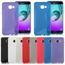 Gel de Silicona S LINE Delgado Teléfono Estuche Cubierta para Samsung Galaxy A3, A5, A8 Modelos