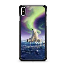 Dreaming Polar Bear Melting Ice Starry Sky Blue Ocean Water 2D Phone Case Cover