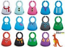 Bibiroo Silicone Baby Bibs, Bpa-Free, Food Catch Pocket, Waterproof, Easy Clean