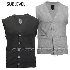 SUBLEVEL Herren WESTE SWEAT  Gr.S-XXL  black, grey melange
