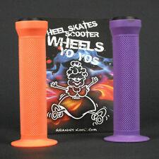 GK Scooter Handlebar Grips Combo Purple Orange + bar ends