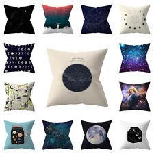 Square Universe Planet Print Pillow Case Waist Throw Cushion Cover Home Decor