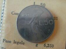 50 LIRE VULCANO,TURRITA,F.P. DAL 1968 AL 2001,DA DIVISIONALE,FDC