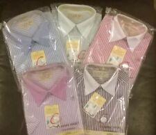 Boys party dress prom wedding stripe shirt Formal wear Occasion NEW short sleeve
