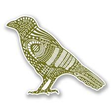 2 X Verde Bird CORVO CORNACCHIA Adesivo Vinile Portatile da Viaggio Bagaglio Auto #6082