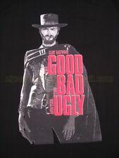 Para HOMBRE CLINT EASTWOOD BUENO MALO FEO película impresa Gracioso T-Shirt Large Nuevo Negro