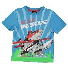 DISNEY t-shirt PLANES Dusty 3-4 / 4-5 ou 7-8 ans bleu manches courtes NEUF