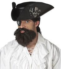 Pirate Captain Hook Moustache & Beard Adult Costume