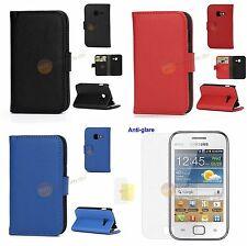 Samsung Galaxy Ace Duos S6802 Flip Tasche Lederhülle mit Geldbörse