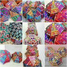 Wholesale Lot Indian Handmade Embroidered Decor Parasol Vintage Umbrella
