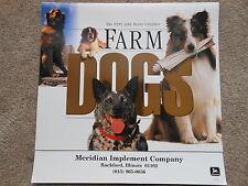 John Deere 1999 Calendar Farm Dogs NICE NOS NEW Old Stock
