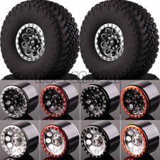 "Aluminum 2.2"" Beadlock Wheels & TIRES FOR 1/10 Crawler AXIAL Traxxas Tamiya HPI"
