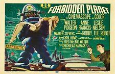FORBIDDEN PLANET Movie POSTER Rare 50's Horror