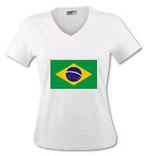 T-shirt Femme Drapeau Brésil -Brasil - du S au XL