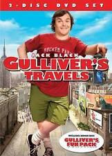 GULLIVER'S TRAVELS JACK BLACK 2-DISC DVD SET 2010 COMEDY BRAND NEW FAMILY DVD