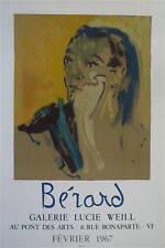 Christian Bérard Affiche Lithographie Mourlot théâtre Lucie Weill Berard Paris