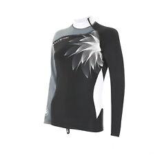 Aqualung  Black-White Lang Short Top RASH GUARD UV Shirt RASHGUARD Damen