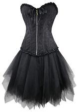 Vestido con Corsé Negro Mini Falda Enagua TENGO Saco Lavandería