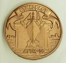 USN US NAVY USS STEADFAST AFDM-14 SHIPS CREST INSIGNIA AWARD PLAQUE