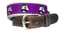 Natty Boh Ravens Purple Leather Tab Belt