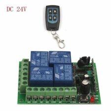 24V 4 Ch Auto Wireless Remote Control Module Relay Switch Receiver 315/433MHz