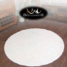 Hardwearing Soft carpets 'SERENITY' circle cream thick Rug Best Quality carpets