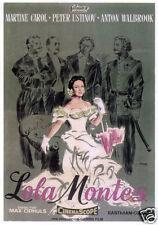 Lola Montes Martine Carol vintage movie poster