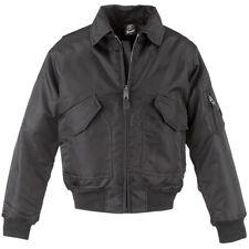 Brandit CWU Jacket Tactical Mens Bomber Flight Police Nylon Security Flyer Black