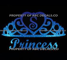 VRS Crown Royal Tiara Queen Princess Heart Love Custom INITIAL S Car Metal Decal