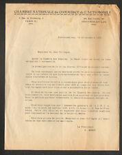 FONTAINEBLEAU (77) CHAMBRE NATIONALE DU COMMERCE DE L'AUTOMOBILE en 1935