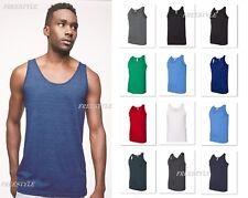 American Apparel Men's Poly/Cotton Tank Top Sport Gym Sleeveless T-shirt BB408W