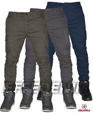 Pantaloni uomo Guru Cargo Tasconi Laterali Slim elasticizzati multitasche Jeans