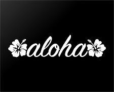 Aloha Hawaii Hibiscus Vinyl Decal Car Window Laptop Surf Sticker