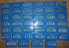 Vintage California Blue Mini Bike Vanity Metal License Plate Sign Spence  Zo Ann
