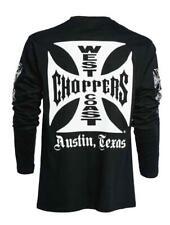 WCC West Coast Choppers Herren Men Shirt Longsleeve Iron Cross Black/Schwarz