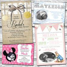 10 Inviti Personalizzati Baby Shower NEUTRO UNISEX invita Boy Girl Twins